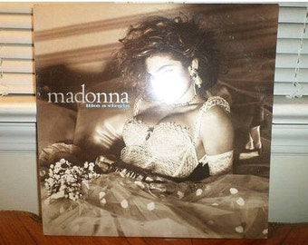 Vintage 1984 LP Record Madonna Like A Virgin Sire Records 1-25157 Near Mint Condition 13085