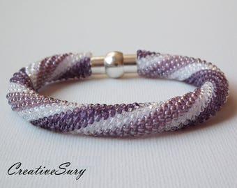 In the Spiral - Bead Crochet Bracelet