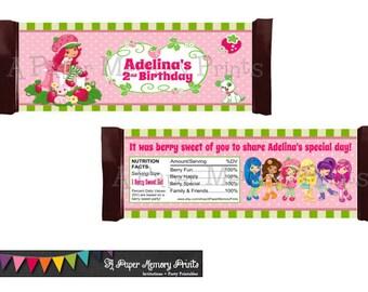 Strawberry Shortcake Candy Wrapper - DIY Printable