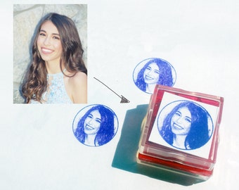 Custom Photo Rubber Stamp - The Blogger