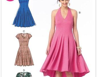 McCall's M6922 Size 14-22 Misses' Halter or Raglan Dresses Sewing Pattern / Uncut/FF