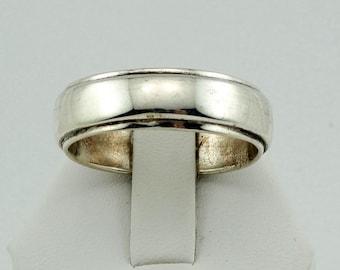 Large Plain Vintage Sterling Silver Band Size 15 1/2 FREE SHIPPING! #15.5BND-SR8