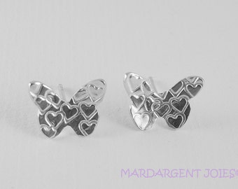 Sterling silver butterfly earrings - Pendientes de mariposa en plata de ley