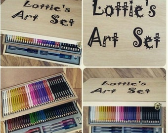 Large art set personalised with name