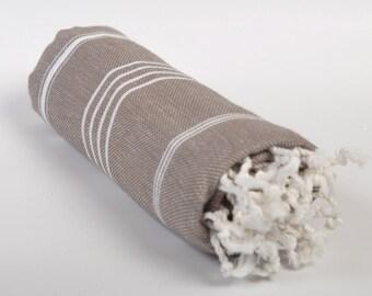 sale 50% off, beach towel, turkish peshtemal, turkish towel, throws, bath towel, soft cotton towel, pareo, tablecloth, brown white towel