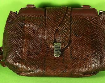 Shoulder bag in Python GHIBLI leather