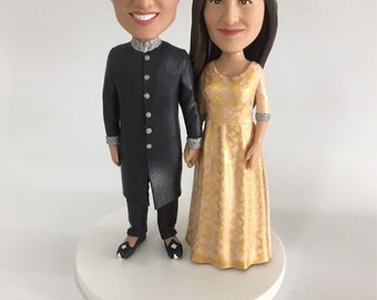 Indian Wedding Cake Topper Indian Personalized Wedding Cake Topper Indian Traditional Wedding Cake Topper Indian Cake Topper
