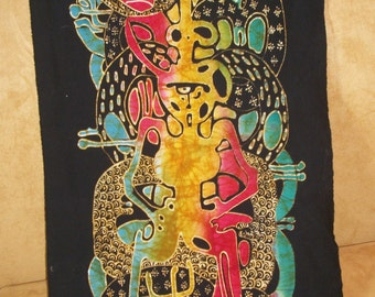 Colourful Javanese Batik Painting