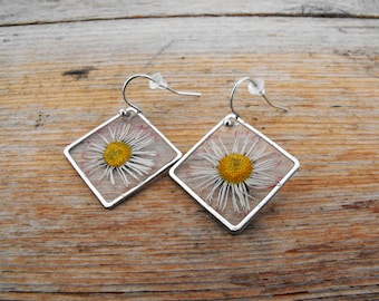 Including silver plated brass Daisy Flower Earrings