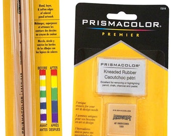 Prismacolor 2 Piece Premier Colorless Blender Pencils Plus 3 Eraser Set Bundle