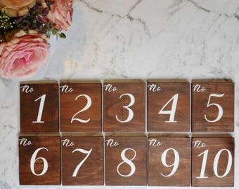 Table numbers set