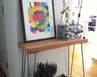 Mid Century Rustic Console Table, Reclaimed Wood Console Table, Narrow Console Table, Sofa Table, End Tables 149.00