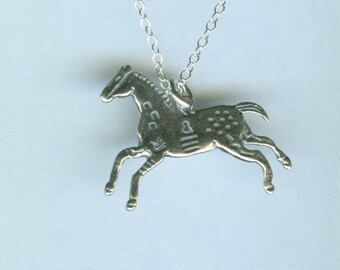 Sterling APPALOOSA HORSE Pendant and Chain - Necklace