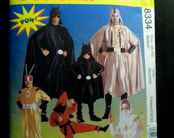 1990s McCall's 8334 Sewing Pattern Men's Super-Hero Costumes Medium Size Chest 38-40 inches