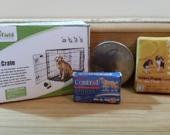 PT-4      Miniature Pet needs   for Barbie and dollhouse collectors