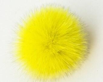 Real Fur Pom Pom Hat Fox Pompom Fox Fur Pompom Large Pom Poms Fur Ball