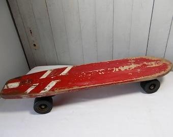 Vintage Wood Skateboard