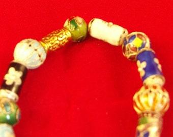 Cloisonne  Beaded bracelet.