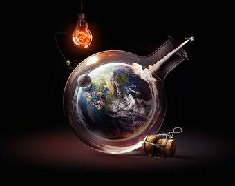 Bottled Earth Poster