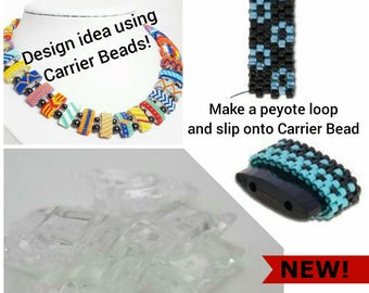 CARRIER BEADS that are clear! The fast and easy way to make beaded beads! 10 beads per set