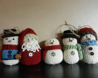 Crocheted Ornament Set of 5