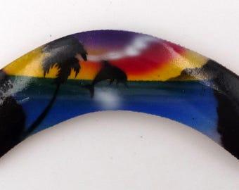 Magnet magnet craft Australia wooden boomerang