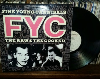 Fine Young Cannibals The Raw And The Cooked Vintage Vinyl Record