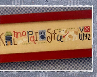 Lizzie Kate Snippet S113 - Doggy String - Counted Cross Stitch Chart, Pattern