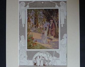 Antique Christmas Carol Print - Xmas Sheet Music Gift - Antique Cherry Tree Carol - Available Framed - Christmas Gift - Carol Singing Print