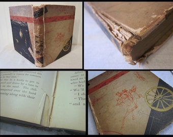 1878 antique book, The Bodleys on Wheels by Horace Elisha Scudder, HC, charming illustrations, story in Massachusetts