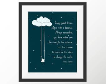 Harriet Tubman Quote Dream Art Quote Dreamer Quote Motivational Print Inspirational Art