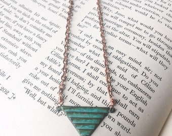 Oxidized Copper Pendant Necklace
