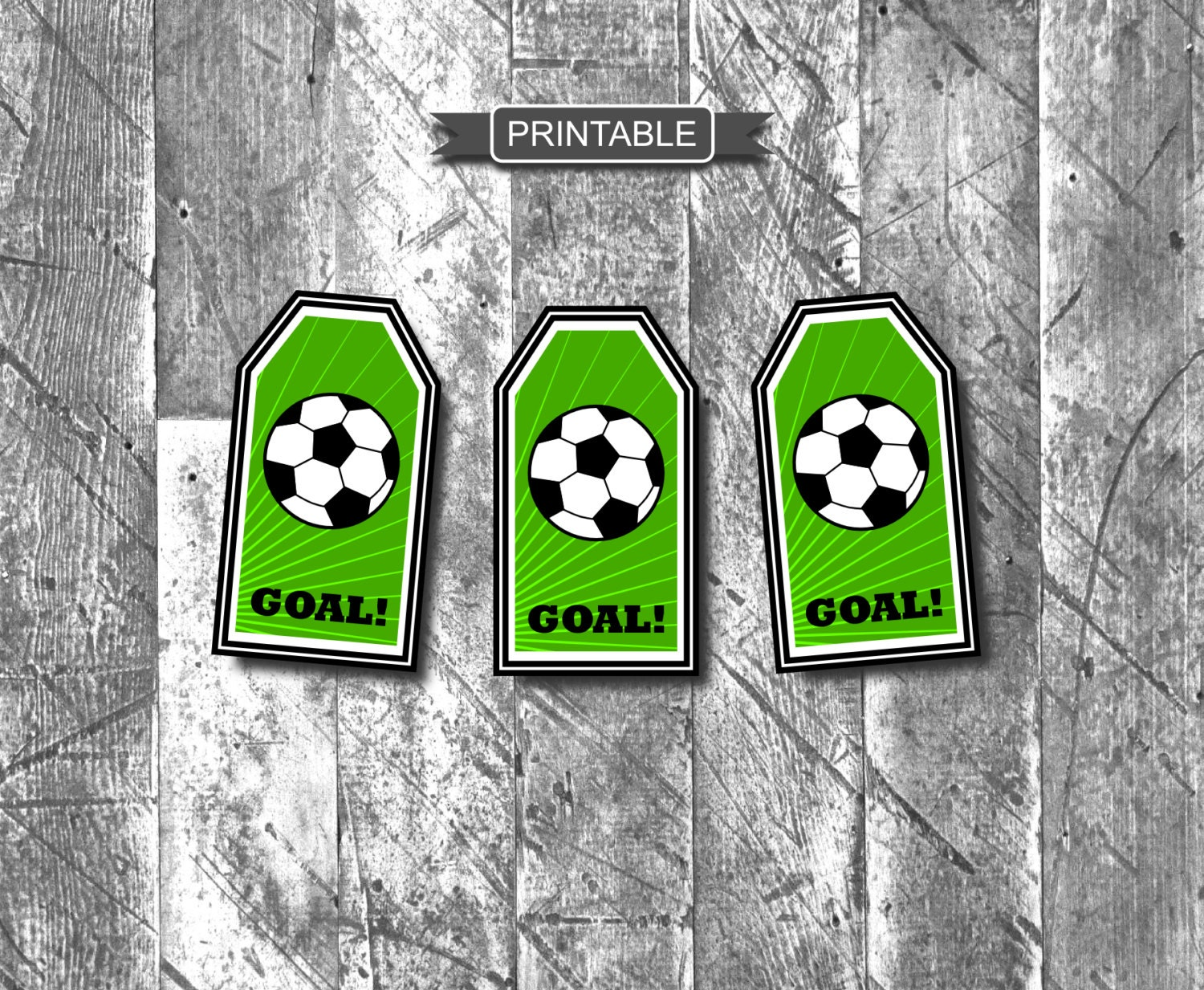 DIY Soccer Gift Tags For Goodie Bags Treat Party Favors