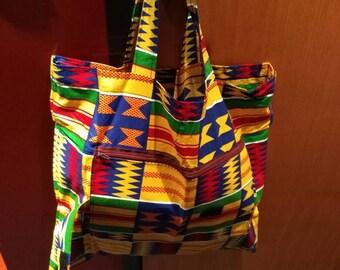 SA12 - Foldable tote bag in wax tote bag