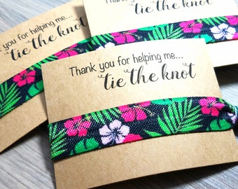 Thank You For Helping Me Tie The Knot Hair Tie Favors | Destination Wedding Favors | Bridesmaid Gifts | Bridesmaid Hair Tie Favors