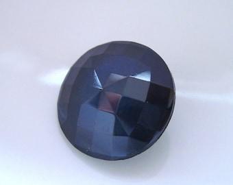 Navy blue gem buttons, dark blue round sparkle buttons, dark navy jewel buttons, 20x black round gem buttons, evening dress making buttons