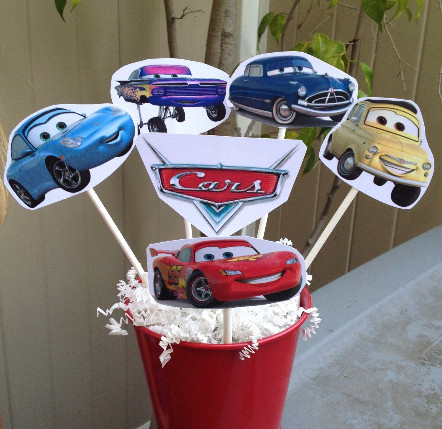 ?zoom & 1 CARS Centerpiece Disney inspired CARS Party Decorations