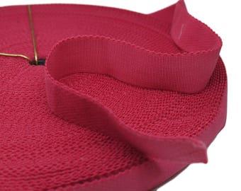 "3 yds Dark Pink Plush Back Waistband Elastic - 1"" wide (AC42)"