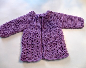 Instant Download, Crochet Baby Sweater Pattern, Beginner Pattern, Top Down, Simple Pattern. Newborn to 3 months Designed by NormasTreasures