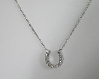 Sparkling Sterling Silver CZ Necklace for Prom Wedding Special Event - marked Italy 925
