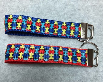 Autism Handmade Key Fob Wristlets