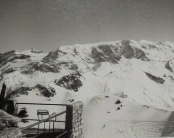 Vintage Winter Photo - Snow Covered Mountain Scene