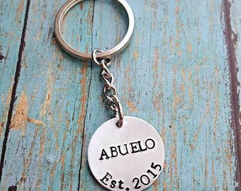 Abuelo Keychain - Abuelito Keychain - Abuelo Gift - Abuelo Established - Grandpa - Gift for Abuelo - Papa - Abuelo - Gift for Grandpa