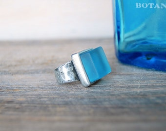 Bombay Gin Pewter Ring | Upcycled Repurposed Jewelry