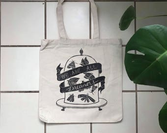 Dreamers Linocut Tote Bag
