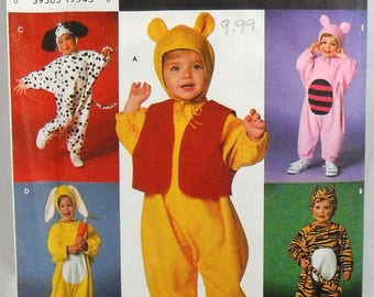 Simplicity 7374 child's animal costumes, chest or breast 19-23