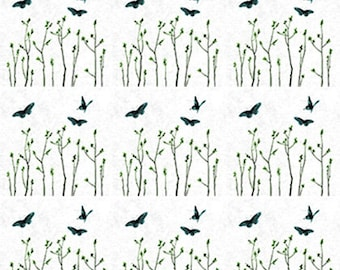 Butterflies In The Field - Ceramic Waterslide Decal - Enamel Decal - Fusible Decal - 33152
