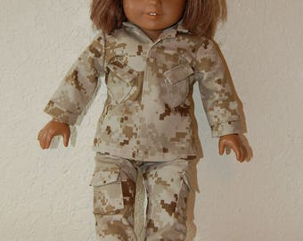 "US Marines Camo Uniform for 18"" Dolls"