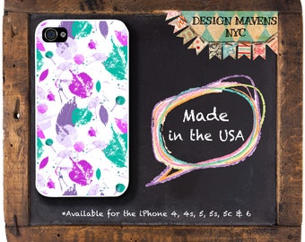 Colorful Leaves iPhone Case, Floral iPhone Case, Fall Phone Case, iPhone 4, 4s, iPhone 5, 5s, 5c, iPhone 6, 6s, 6 Plus, SE, iPhone 7, 7 Plus