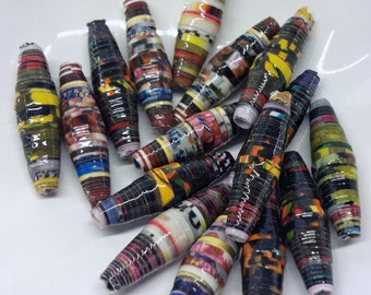 Paper Beads. Multi Coloured - Eco Friendly